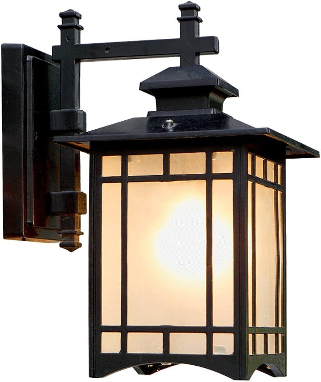 LIGHT YEARS Wasserdichte Wandleuchte im Freien, Landhaus-Garten-Gang-Tür-Wandlampe, Aluminium + Glas