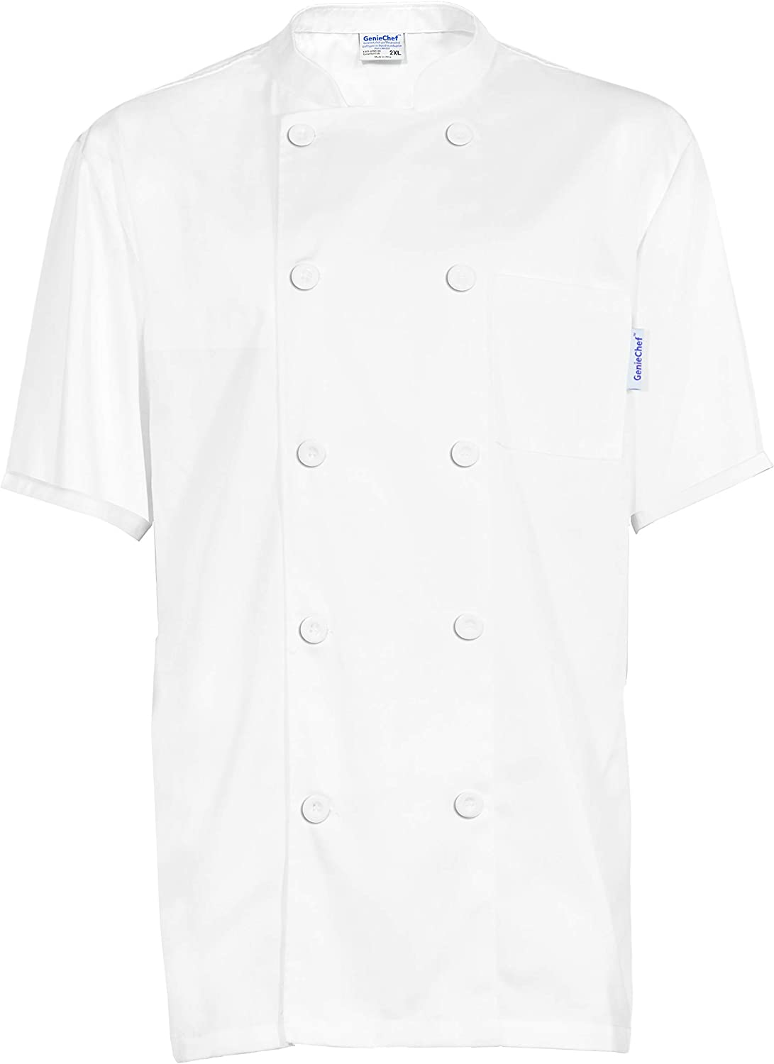 GenieChef Men's Short Sleeve Coat Classic Max 51% OFF Chef Sales of SALE items from new works