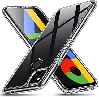ESR Google Pixel 4a ケース (5Gモデル非対応) 9H強化ガラス背面カバー & TPUフレーム [傷に強い] [耐衝撃] [ソフトバンパー] Pixel 4a 保護ケース – クリア