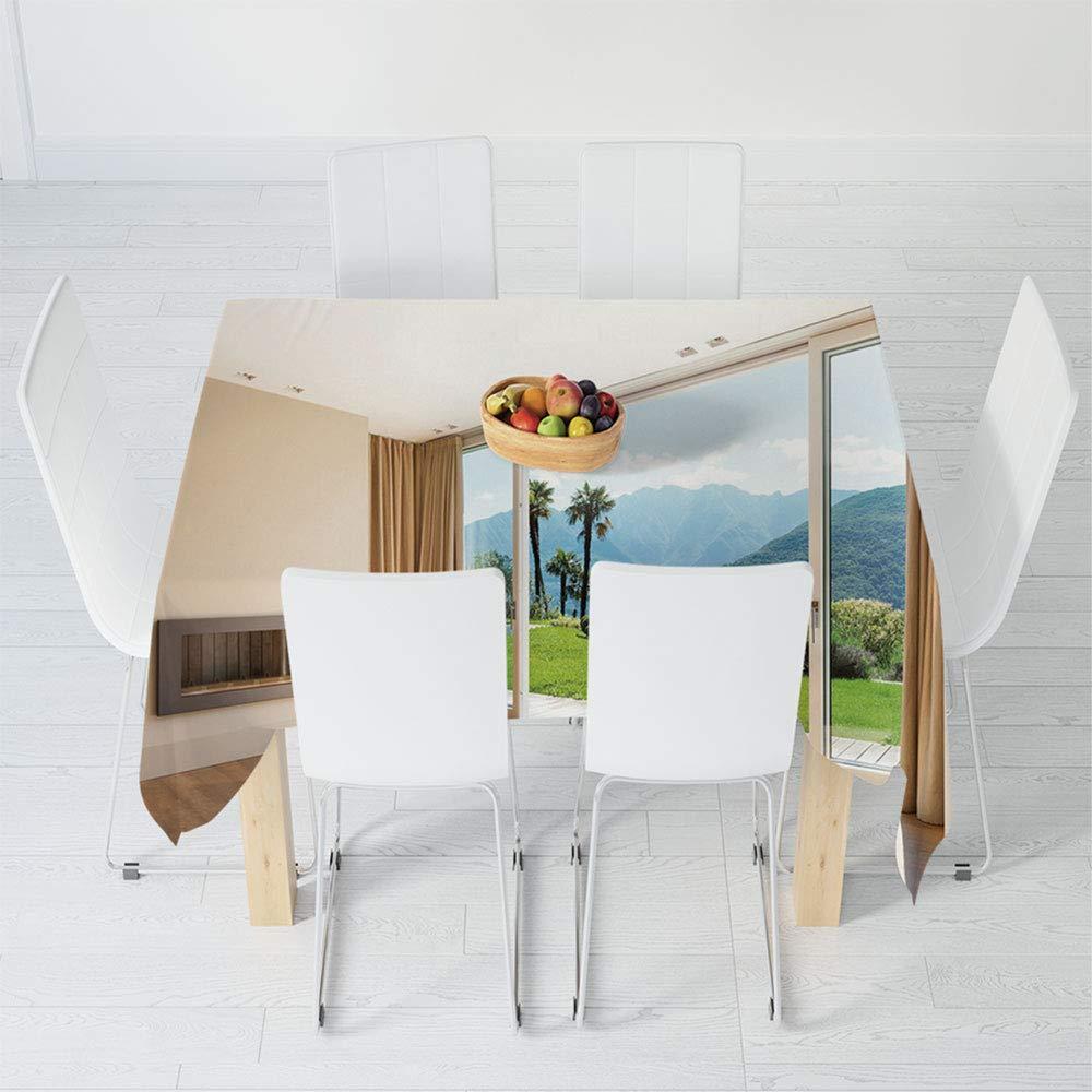 TecBillion Mantel no se decolora, decoración Moderna, para Mesa al ...