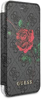 CG Mobile Guess iPhone 8 & iPhone 7 Case Red Rose/Gray PU Leather Pattern Book Type Folio Case   Easily Accessible Ports   Officially Licensed.