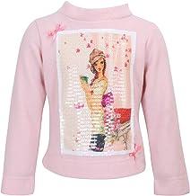 Cutecumber Girls Velour Fabric Sequined Cream Winter Top.CC1791A-CREAM
