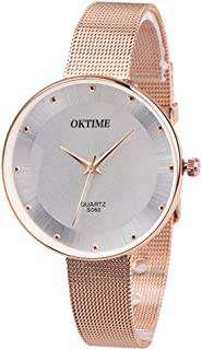 Triskye Womens Analog Quartz Watches Business Casual Classic Luxury Leather Strap Band Round Wrist Watch Ladies Wristwatch Bracelet for Teen Girls