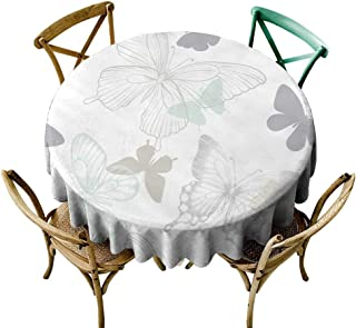round tablecloth wood Seamless pattern with decorative butterflies in scandinavian style design greeting card and invitation of the wedding birthday Valentine s Day mother s day spring and summer holi
