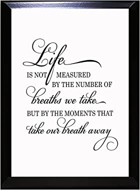 Life is Not Measured by The Number of Breaths We Take Wall Plaque Sign 9 in x 12 in