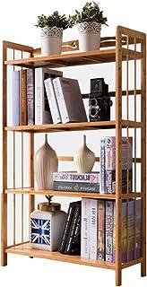 Jhsms Estantería de 3 a 6 niveles, estrecha y multiusos, estante de exhibición, estante alto de madera abierta, estantes de madera para el hogar u oficina F 125 x 70 x 26 cm