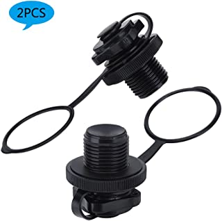 Air Valve for Inflatable Boat Screw Air Valve Replacement Spiral Air Plugs for Inflatable Raft Kayak Canoe Airbed PVC Boat - 2PCS