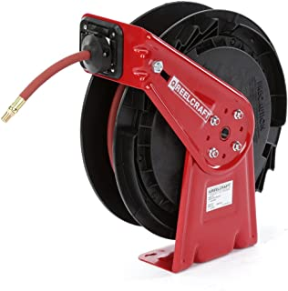 """Reelcraft RT625 Medium Duty Spring Retractable Reel, Air and Water Hose Reel, ⅜"""" x 25'"""