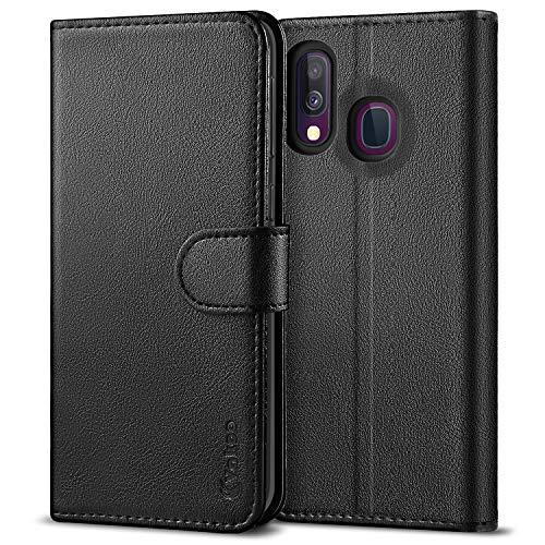 Vakoo PU-Pelle Cover per Samsung Galaxy A40 Portafoglio Custodia - Nero