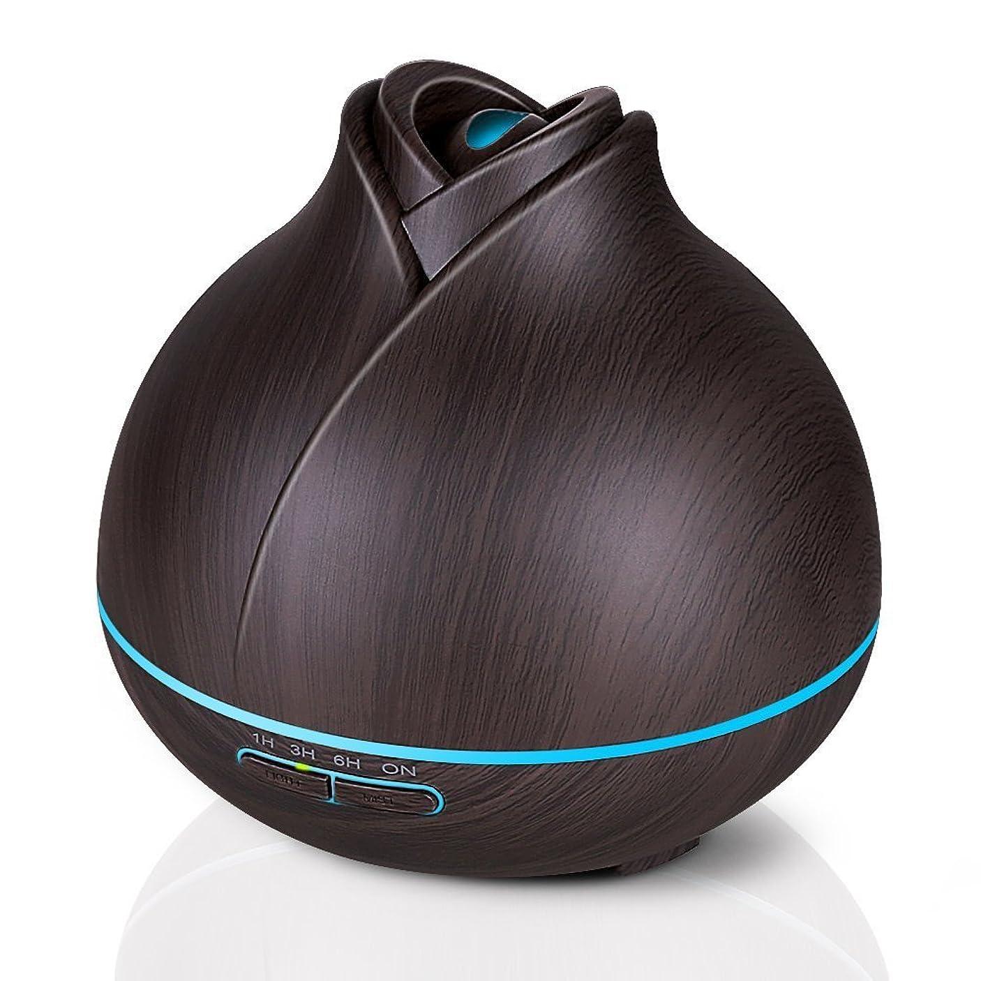 独占スペクトラム機知に富んだエッセンシャルオイルディフューザー、400ミリリットル電気超音波クールミスト加湿器アロマディフューザー、7色LEDライト付き空気清浄機