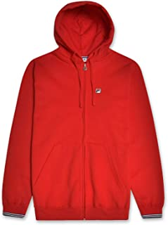 Fila Hoodies for Men Big and Tall Full Zip Hoodies for Men Cotton Fleece Hoodie