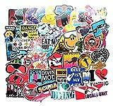 GSNY Pegatinas Impermeables de explosión para Deportes de Buceo Personalizadas, Carrito de refrigerador, Juguete, Cuaderno, Guitarra, Pegatinas para Coche, 60 Hojas