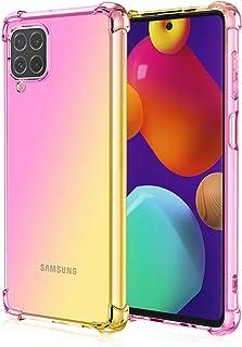 جراب EasyLifeGo لهاتف Samsung Galaxy M62 / Samsung Galaxy F62 من مادة TPU المرنة ذات الحافة الناعمة الماصة للصدمات مع زواي...