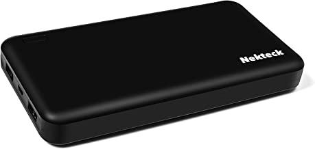 Nekteck 20000mAh Power Bank 3.4A Dual-USB Output Portable External Battery Pack Charger Backup with Smart USB for iPhone, iPad, Samsung Galaxy and More - Black