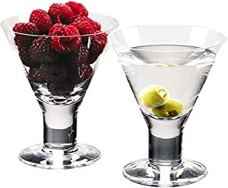 Caprice - Set of 4 Mouth Blown Lead Free Crystal Martini or Dessert Servers - 6 Oz H4.5 Inch