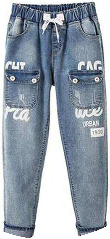 blueeshore Plus Size Jeans for Women Jeans Womens High Waist Jean Harem Pants Casual Denim Trousers Female