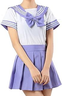 school uniform purple summer dress
