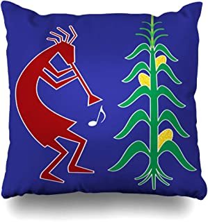 Ahawoso Throw Pillow Cover Square 20x20 Spirit Kokopelli History Fertility Usually Player Depicted Humpbacked Folklore Corn Symbol He Man Cushion Pillow Case Decorative Home Decor Zippered Pillowcase