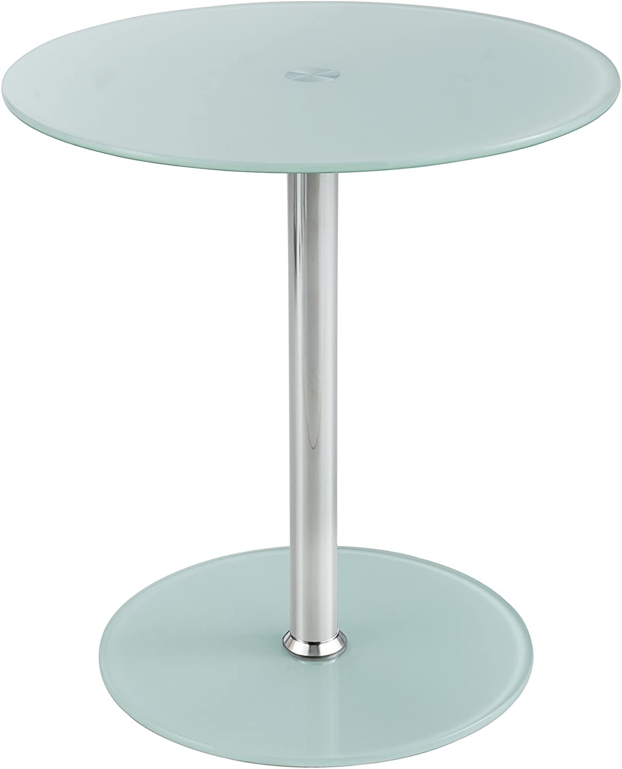 Safco Products Products Glass Accent Table, White (5095WH)