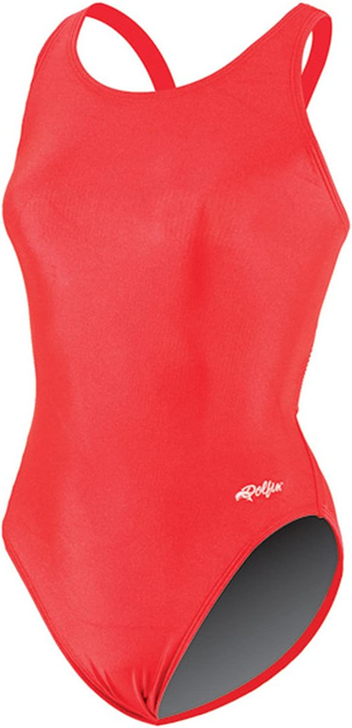 Dolfin Team Solid HP Back Swimsuit Womens  Red 40