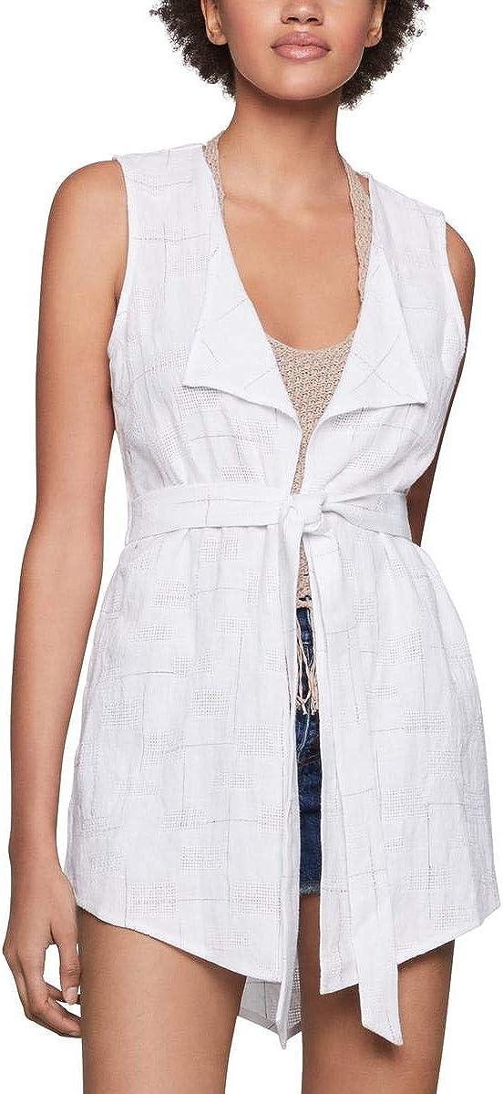 BCBGeneration womens Sleeveless Checkerboard Vest