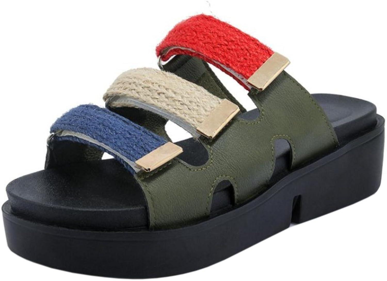 TAOFFEN Women's Slide Open Toe Sandals shoes