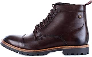 0b5e3b6d Base London Brigade - Botas de Piel para Hombre Marrón Washed Brown