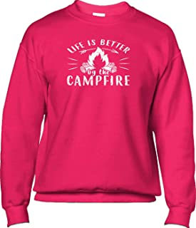 Mens Sweatshirt Life is Better by The Campfire,