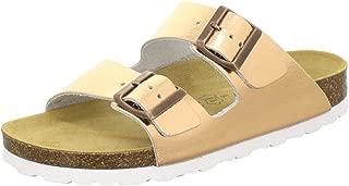 2100 Chanclas cómodas para Mujer de Piel auténtica, prácticas Zapatillas de Trabajo, Zapatillas de casa, Hechas a Mano en Alemania