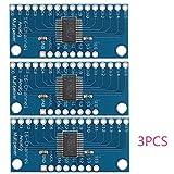 3pcs CD74HC4067 Módulo de la placa de desglose del multiplexor digital de 16 canales de D...