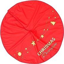 TOYANDONA Christmas Tree Skirt Flannelette Xmas Tree Base Cover Apron Collar Wrap Floor Carpet Mat for Holiday Festive Far...