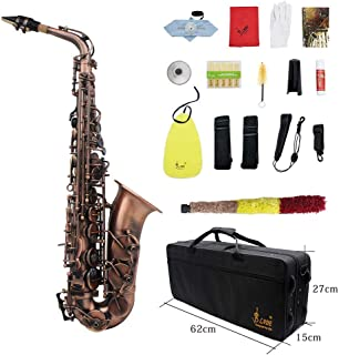 Saxophone Drop E Tone red Copper high-Grade red Copper modeled After an Antique Alto Sax