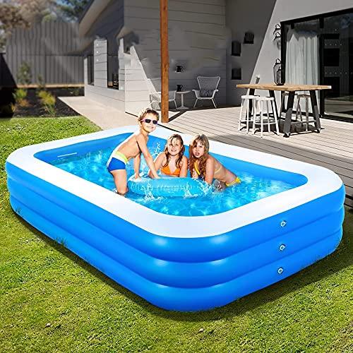 ZHANGLE Piscinas inflables Familiares, Piscinas de salón de tamaño Completo, Piscina Infantil, para jardín al Aire Libre, Patio Trasero, Fiesta acuática de Verano