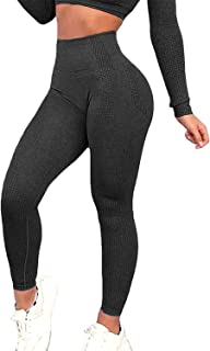 Women's Seamless Leggings Ankle Compression Yoga Pants Tummy Control Running Workout Tights