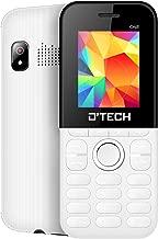 New D'Tech One - GSM Factory Unlocked Basic Feature Phone - Radio - Dual SIM - Music Player - Torch Light - VGA Camera (White)