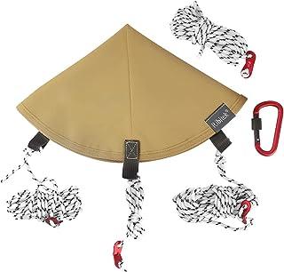 Rebitek トンガリハット ワンポールテント タープ連結 固定 テントの防水【カラビナ*1+ロープ付*4】