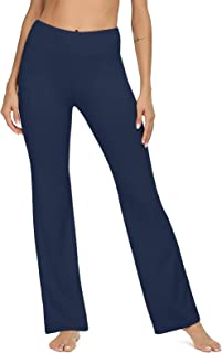 VIISHOW Women's Boot-Cut Yoga Pants Tummy Control Workout Non See-Through Bootleg Yoga Pants