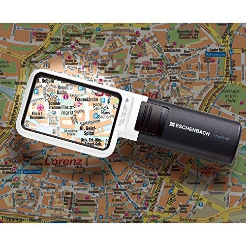 Eschenbach Lupe mobiluxLED 10D 3.5x 75×50 - 2