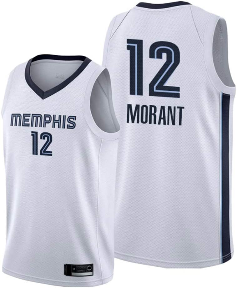 c/ómodo//Luz,Verde,S NBA Memphis Grizzlies # 12 Ja Morant Jerseys del Baloncesto Hombres del Jersey Haoshangzh55 Hombres Jerseys 165~170CM