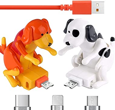 WSNBB Stray Dog Charging Cable, Funny Humping Dog Fast Charger Cable, Mini Humping Dog Phone Charger for Type-C, Android, iPh