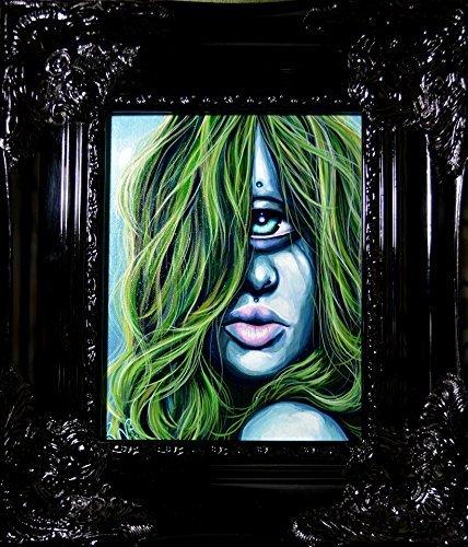 RW2 Original Cyclops Iris Painting Monster High Re-Imagined Surreal lowbrow big eye Art by Robert Walker
