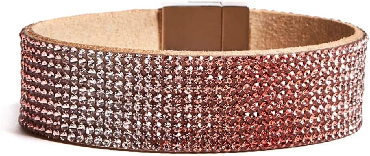GUESS Factory Women's Pink Ombre Magnetic Cuff Bracelet, NS