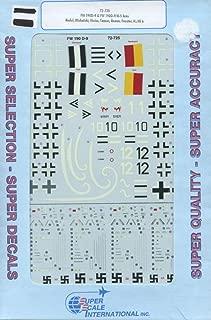Superscale Decals 1:72 FW 190 D-9 & FW 190D-9/R-5 Aces Rudel Michalski #72-725