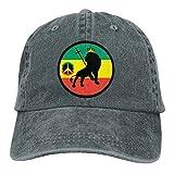Bigkin - Gorra ajustable para hombre y mujer, diseño de león rasta