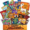 Halloween Basket for Kids Adults (40 count) Halloween Candy Snacks Assortment Trick or Treat Cookies Bars Variety Gift Pack Box Bundle Mixed Bulk Sampler for College Students Halloween Care Package