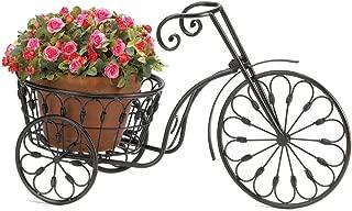 Garden Need Wrought Iron Bicycle PLANT STAND Black Gift Outdoor Indoor Garden Decor 10