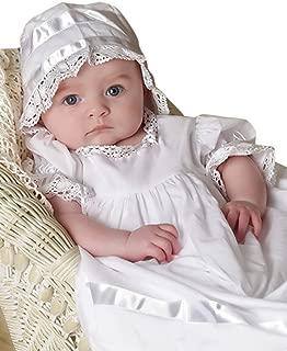 Babies Lace Christening Gown with Bonnet Baptism Dresses