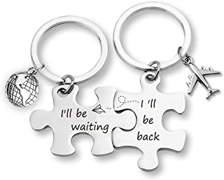 TOGON Puzzle Keychain Set Long Distance Relationships Gifts I'll Be Waiting I'll Be Back Anniversary Valentine Couples