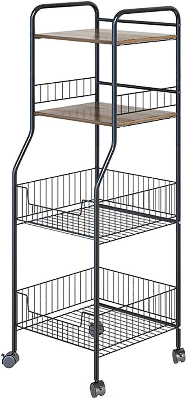 Shelf Kitchen Narrow Removable Storage Rack -Metal + Wood Board,Bathroom Toilet Corner (color   B)