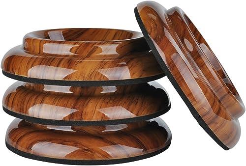 Lot de 4protections antidérapantes pour roulettes de pied de piano vertical - Par KingPoint - En plastique ABS palis...